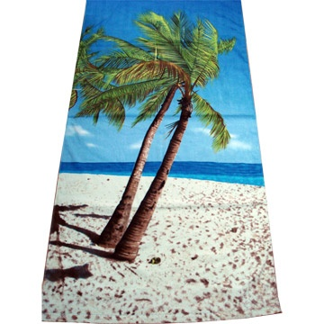 100% Cotton Full Reactive Printed Velour Beach Towels