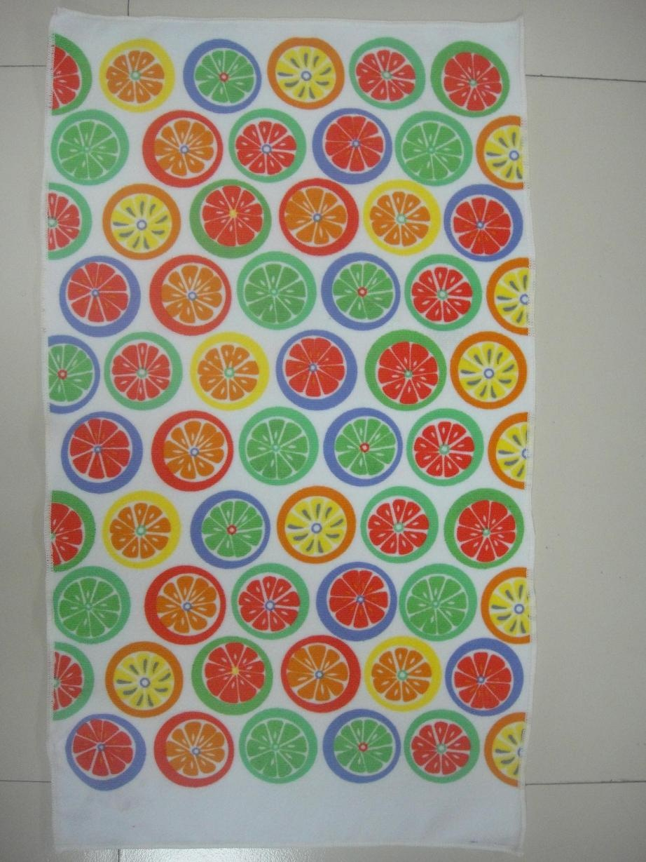 high water absorption and quick dry microfiber printed kitchen towel