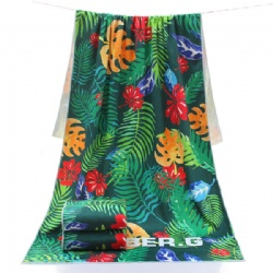 microfiber material digital printed beach towel design your own