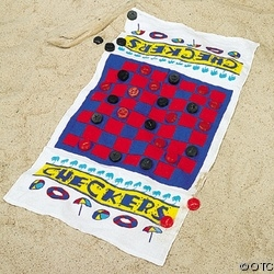 100% Cotton Game Beach Towel